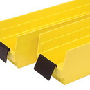 Quantum ELH410 Bin Cups, Label Holders and Dividers (10 Degree Angle Label Holder)