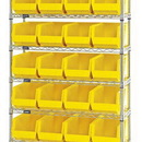 Quantum WR8-240 Stack and Hang Bins Wire Shelving Systems (Outside Dimensions: 36