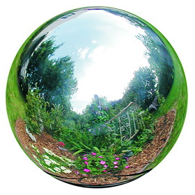 """Rome 706-S 6"""" Silver Stainless Steel Gazing Globe"""