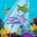 Creative Converting 665325 Ocean Party 3-Ply Lunch Napkins (Case of 192)