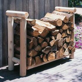 "Cedar Looks Firewood Rack Log 3',  36""W x 18""D x 27"" H"