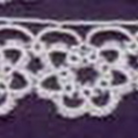 "1"" Ecru Brown Flower Cluster Tatting Lace Fabric, Price/piece"