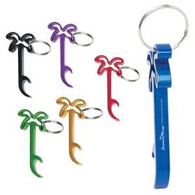 "HIT Laser Engrave Palm Tree Bottle Opener With Key Ring, Laser Engraved, 1 1/4"" W X 2 7/8"" L, Price/piece"