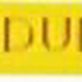 "BizPins Yellow Hope / Courage / Bravery / Endurance Stock Wristband, 8"" L X 1/2"" W X 2Mm Thick, Price/piece"