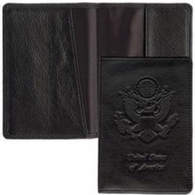 Black Plonge Leather Passport Cover, Price/piece