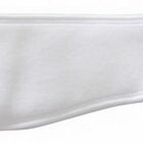 "Vapor Polyester Fleece White Ear Warmer Headband, 20"" Diameter, Price/piece"