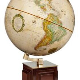 Frank Lloyd Wright Four Square Antique Desk Globe w/ Angled Metal Axis, Price/piece