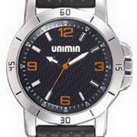 Pedre Grand Prix Unisex Watch w/ Black Dial & Orange Hour Markers, Price/piece