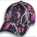 Custom Ladies Muddy Girl Black/Pink camo Structured Cap