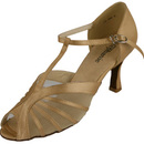 Go Go Dance Tan Satin Dance Shoes - 12036-55