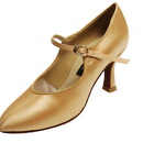 Go Go Dance Dark Tan Satin Dance Shoes - 15007-55