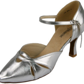 Go Go Dance Dance Shoes 15021-42, Silver Leather