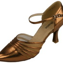 Go Go Dance Dance Shoes, Bronze Leather - 15022-52