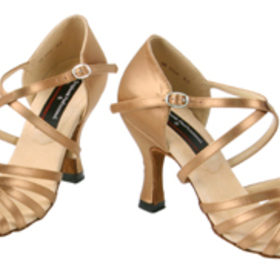 Stephanie Copper Tan Satin Dance Shoes - 92001-75