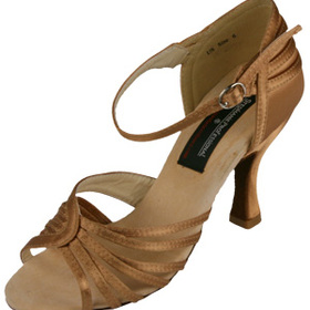 Stephanie Copper Tan Satin Dance Shoes - 92015-75