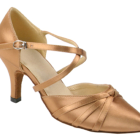 Stephanie Copper Tan Satin Dance Shoes - 95004-75