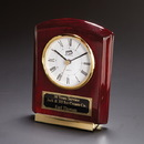Cornell Wood Clock With Brass Accents And Deluxe Quartz Movement