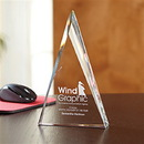Prism Triangle Award With Strategically Placed Facets On Both SIDes