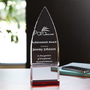 Ruby Javelin Award With Layers Of Optically Perfect Red And Clear