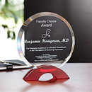 Ruby Circle Award With An Optically Perfect Red Base