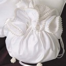 Simply Charming BP100 Satin Pouch with Pearl Trim