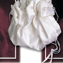 Simply Charming BP123 Silk Satin Pouch with Pearl Trim