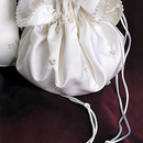 Simply Charming BP126 Silk Satin Pouch with Pearl Clusters