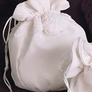 Simply Charming BP130I Chiffon Purse with Embroidered Lace and Roses