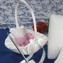 Simply Charming FGB825I Satin Flower Basket w/ Buckle & Bow