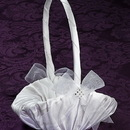 Simply Charming FGB838I-07 Satin Flower Basket with beaded trim
