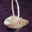 Simply Charming FGB869IB Ivory Satin Blush Lace Basket