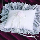 Simply Charming RP422 Chiffon Ring Pillow with Ruffle
