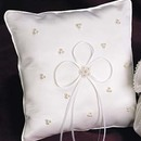 Simply Charming RP426C Silk Satin Ring Pillow with Pearl Clusters