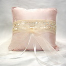 Simply Charming RP431PK Pink Silk Ring Pillow with Pearl Trim