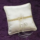 Simply Charming RP438I-07 Satin Ring Pillow with Beaded Trim