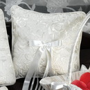 Simply Charming RP439 Silk Embroidered Rose Design Pillow