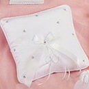 Simply Charming RP483 Ring Pillow, Satin Crystal Clusters