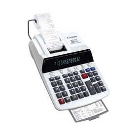 "Canon 12-Digit Business Function Print Calculator, 12 Character(s) - Fluorescent - Power Adapter Powered - 3"" x 8.88"" x 13"", Price/EA"
