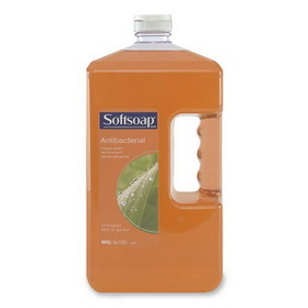 Softsoap Antibacterial Liquid Soap Refill, 1gal - Anti-bacterial - Light Brown - 4 / Carton, Price/CT