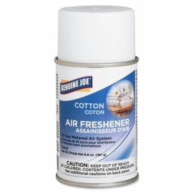Genuine Joe Metered Air Freshener, Aerosol - Cotton - 30 Day, Price/EA