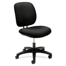 HON ComforTask 5901 Task Swivel Chair, Black - Olefin Black Seat - Steel Black Frame - 23