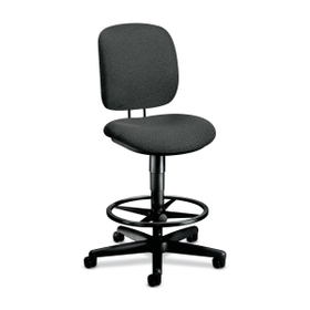 "HON HON5905AB12T HON ComforTask 5905 Pneumatic Task stool, Gray - Olefin Gray Seat - Back - Steel Black Frame - 26.8"" x 30"" x 49.8"" Overall Dimension, Price/EA"