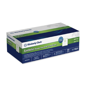 Kimberly-Clark Safeskin Powder-Free Exam Gloves, Small Size - Slip Resistant, Latex-free, Powder-free - 100 / Box - Clear, Price/BX