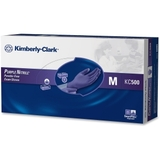 Kimberly-Clark Safeskin Nitrile Exam Gloves, Medium Size - Powder-free, Latex-free - 100 / Box - Purple, Price/BX