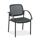 Lorell Guest Chair, Faux Leather Black Seat - 24