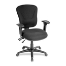 Lorell Accord Mid-Back Task Chair, Polyester Black Seat - Black Frame - 26.8