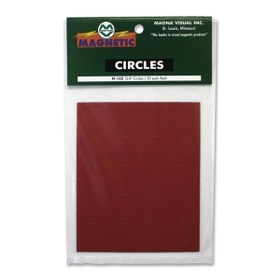"Magna Visual Magnetic Circles, Circle - 0.75"" Diameter - Magnet - Red, Price/PK"