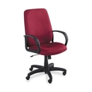 Safco Poise Collection Executive High-Back Chair, Polyester Burgundy Seat - Black Frame - 27