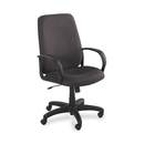 Safco Poise Collection Executive High-Back Chair, Polyester Black Seat - Black Frame - 27