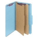Smead 19030 Blue Colored Pressboard Classification Folders with SafeSHIELD Fasteners, Legal - 8.50